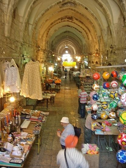 Old City of Jerusalem - Arab Market indoors