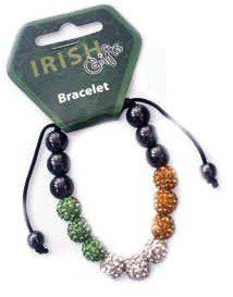 Bracelet Irish Tricolour Beads  £9.99