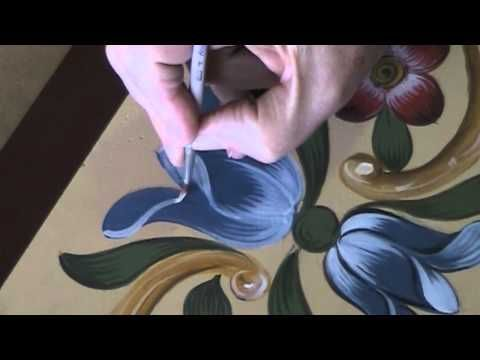 ▶ Tulip - Bauernmalerei, Decorative Painting Video & Tole Painting Lesson - YouTube: https://www.youtube.com/watch?v=qFlfipziI3o
