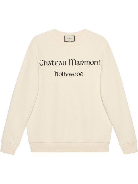 cdd750f18da5 Gucci Oversize Sweatshirt With Chateau Marmont in 2019 | fashionista ...