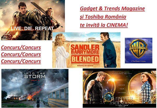Gadget & Trends Magazine și Toshiba România te invită la CINEMA!