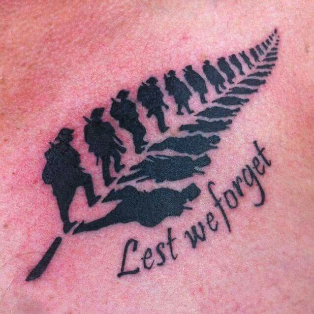 Lest we forget - Pieces of Eight tattoo studio