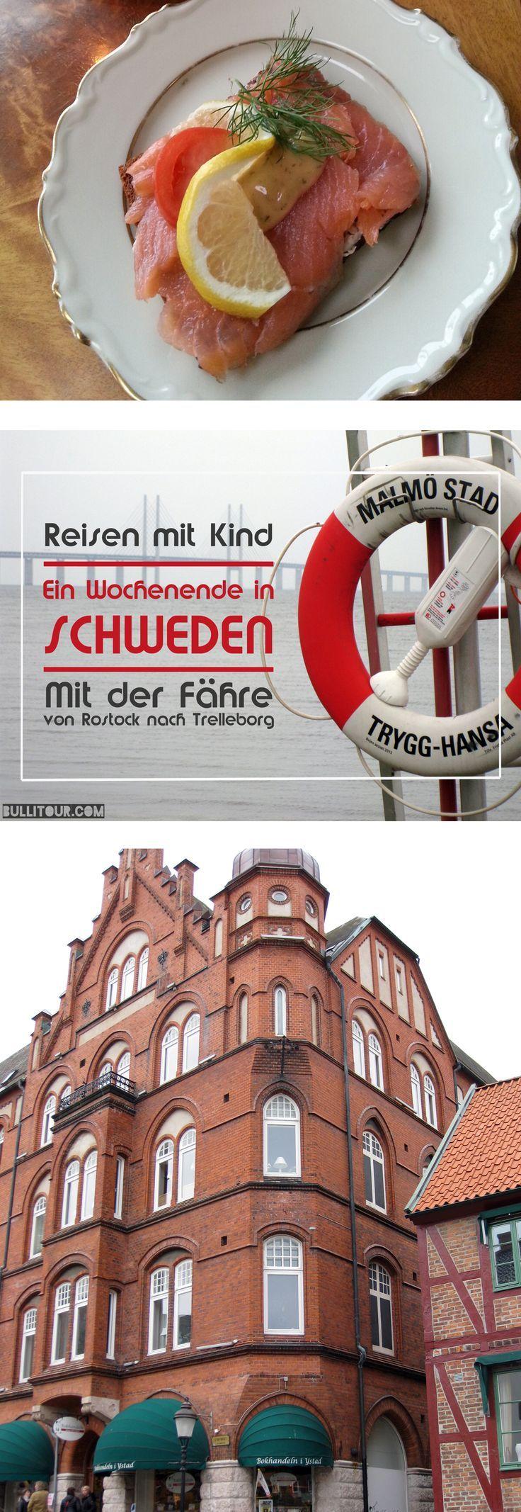 Reisebericht: Mit der Fähre von Rostock nach Trellborg. Stationen vor Ort: Lund, Ystad, Malmö Reisen mit Kind