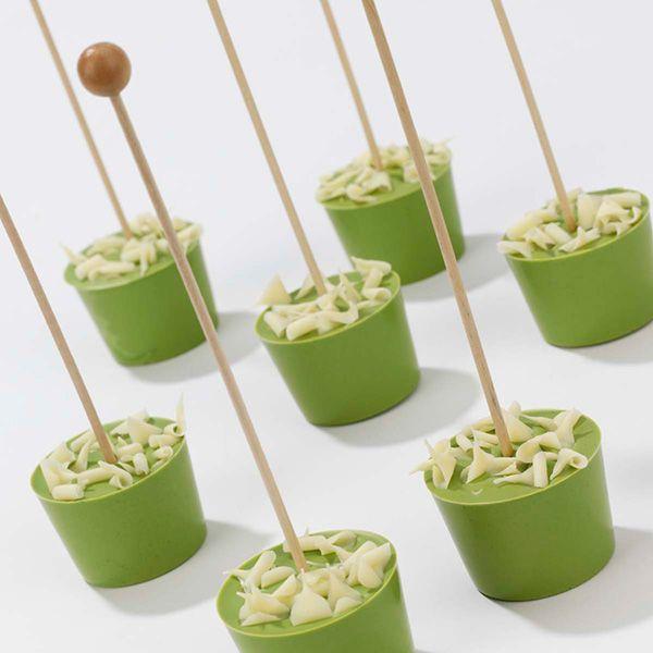 Hot Chocolate Swirl - Green Tea White Chocolate-- Chocolatines