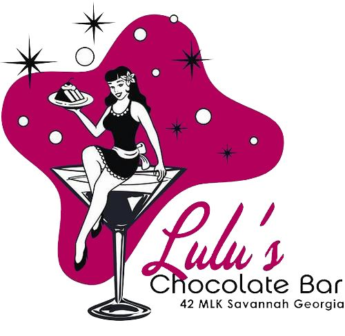 Lulu's Chocolate Bar in Savannah offers cake, chocolate, coffee, community, martinis, cocktails, full bar, fondue, ice cream, brownies, pies, creme brulee and adventure!