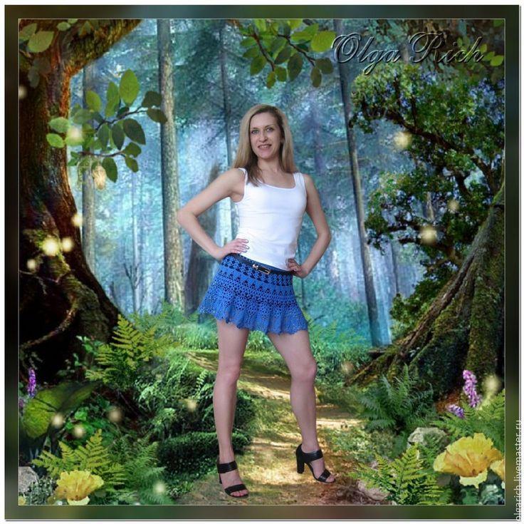 """Buy Fishnet skirt """"Royal Blue"""" - skirt crochet, skirt knitted, beach skirt"""