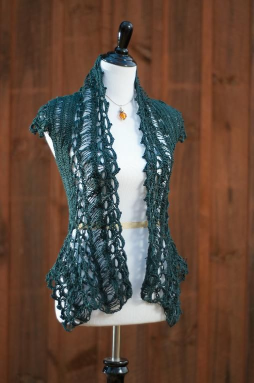Absolutely beautiful Emerald Rebel Lace Cardi. This is pretty... and with instructions and all. Very nice.