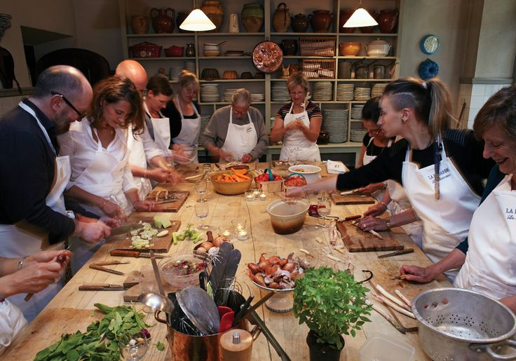 Le Marmiton at La Mirande in Avignon, France. A monthly, weeklong cooking school taught by teh hotel's own chef, as well as a rotating roster of guest chefs from the Avignon area. - victoriamag.com
