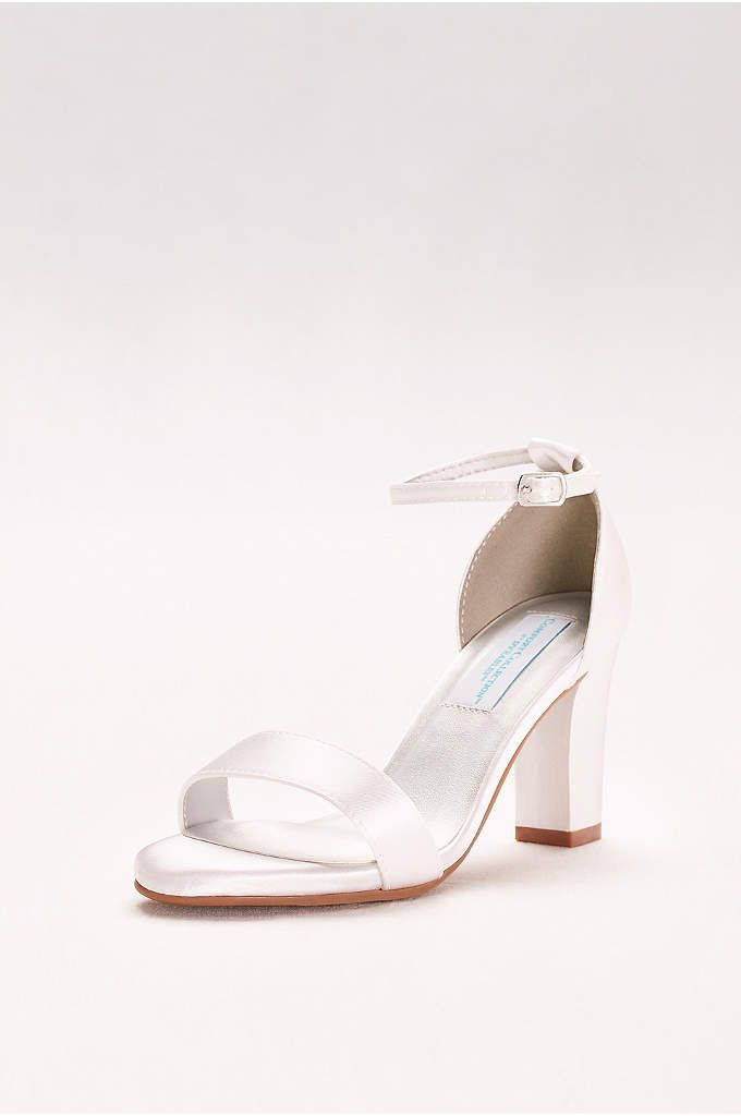 ee52c50ae72 Dyeable Ankle-Strap Block Heel Sandals - Get ready to dance all night  memory  foam
