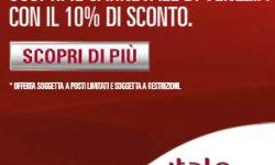 Italo Treno offre un ESCLUSIVO codice sconto del 10% per l'acquisto di viaggi con destinazione Venezia da fare dal 20 febbraio al 4 marzo.