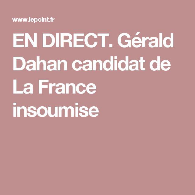 EN DIRECT. Gérald Dahan candidat de La France insoumise