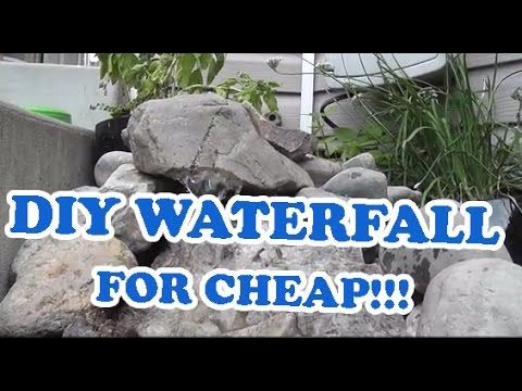 Best 25 diy pondless waterfall ideas only on pinterest diy waterfall diy fountain and - Cheap pond ideas ...