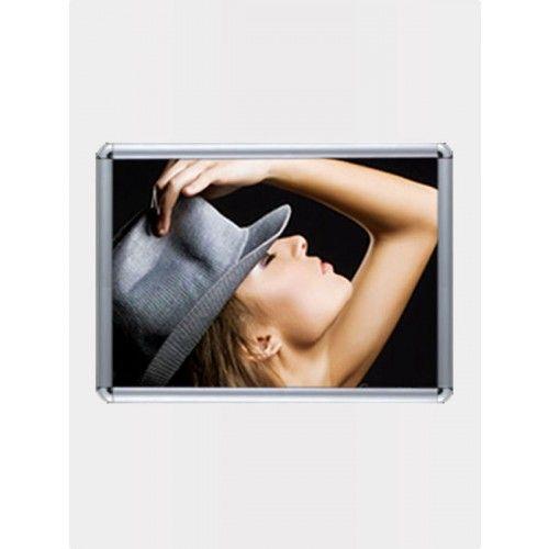 Snap frame http://www.dxpdisplay.com/snap-frame-16-75in-x-23-75in-landscape