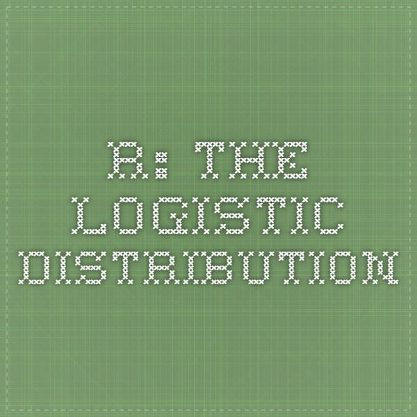 R: The Logistic Distribution