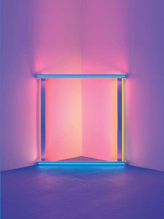 Dan Flavin. #Art #Pink #Blue #Light