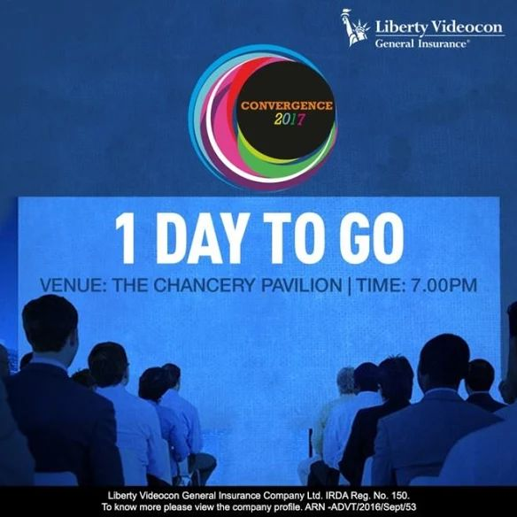 Drop in tomorrow at 'The Chancery Pavilion' for #Convergence2017 #libertyvideocon