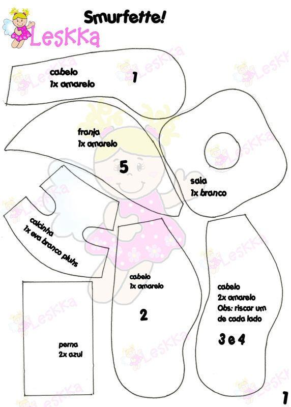 GORRO DE LOS PITUFOS | Goma eva | Pinterest