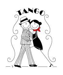Resultado de imagen para dibujos de tangueros bailando