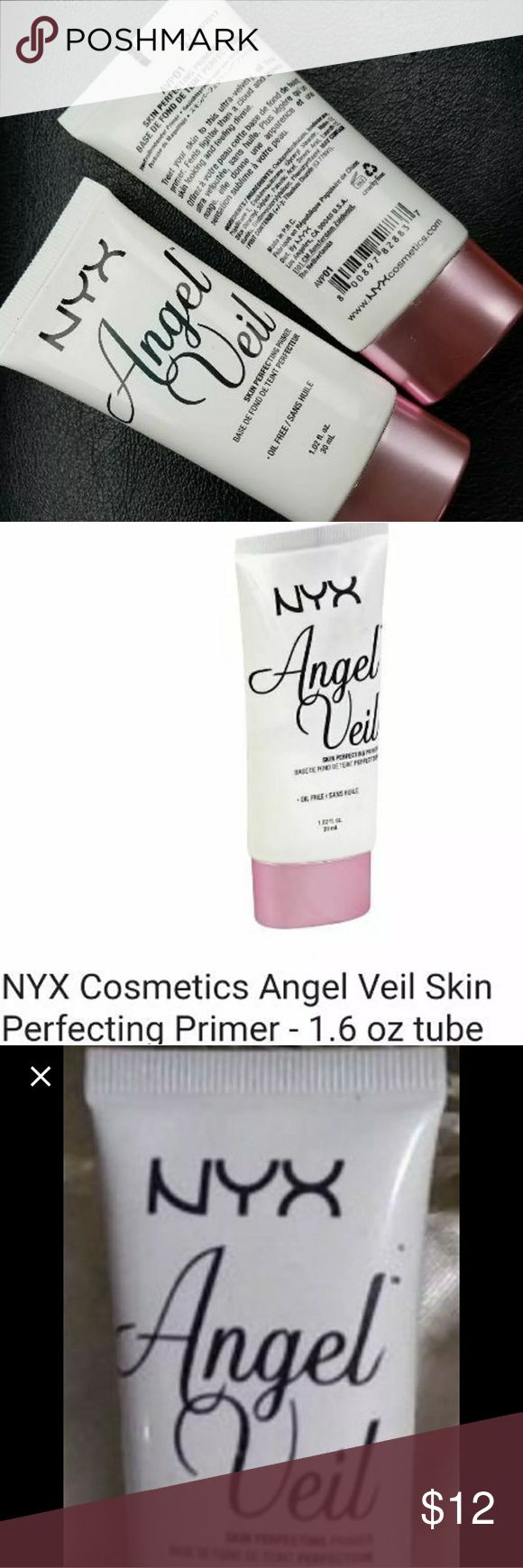☆NYX ANGEL VEIL☆ SKIN PERFECTING PRIMER☆ BRAND NEW ♡ ANGEL VEIL ♡ SKIN PERFECTING PRIMER  ♡                                                                  WHAT IT IS~ a velvety smooth primer that creates a uniform canvas.                                                           WHAT IT DOES~ ensures smooth makeup application. WHY YOU'LL LOVE IT~ makes make-up last with a satin smooth finish. NYX Cosmetics Makeup Face Primer
