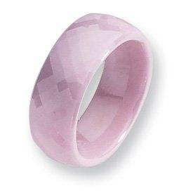 Ceramic Pink Faceted 7.5mm Polished Band CER30-6.5 Abacus. $80.50