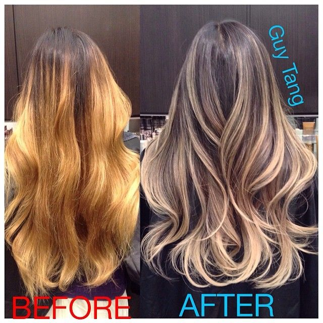 Dry damaged hair to beautiful color correction #badombre #beforeandafter #ombrehair