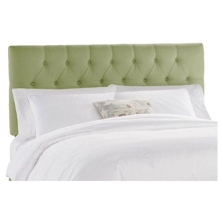 I pinned this idina tufted headboard in duck sage from the for Adrienne chaise lounge