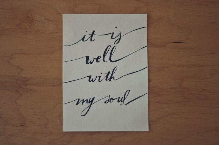 It Is Well Quote Contentment Quote Hymn Quote by heytheredesign, $10.00