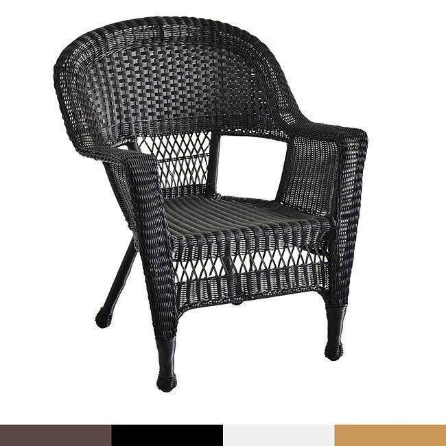 Jeco Wicker Patio Chairs (Set Of 2) (Espresso Wicker), Brown, Part 48