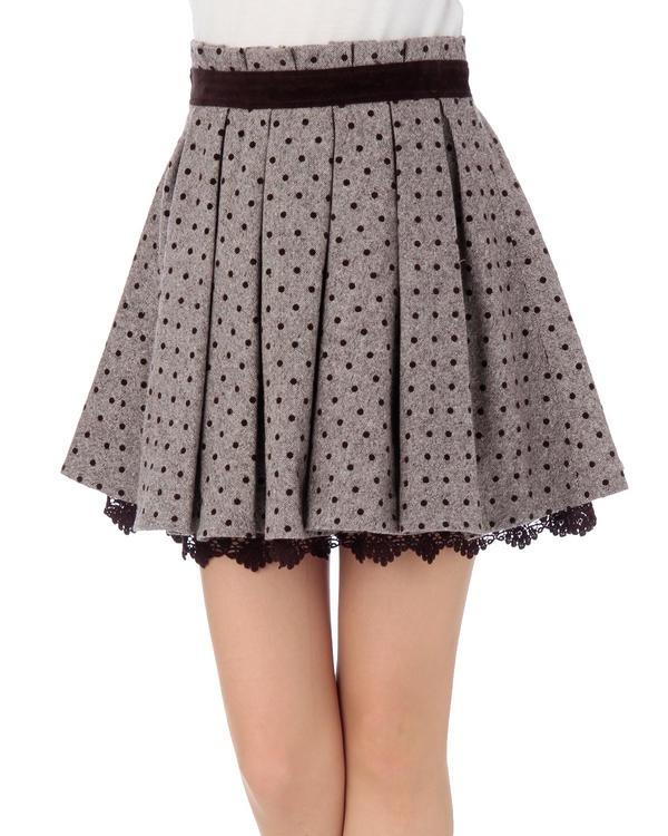 liz lisa polka dot & lace skirt