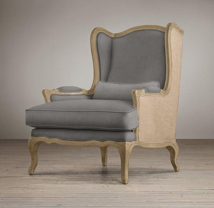 Lorraine Chair with Burlap   Chairs   Restoration Hardware ...