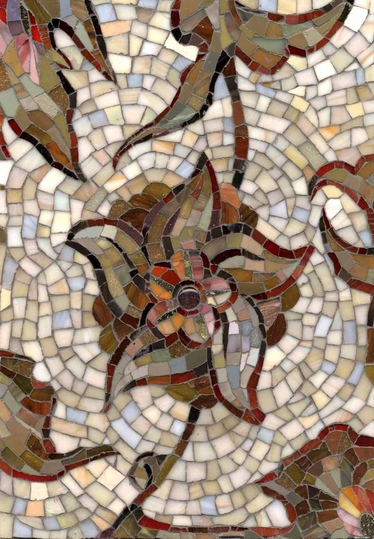 Mosaic ornament fragment Persian