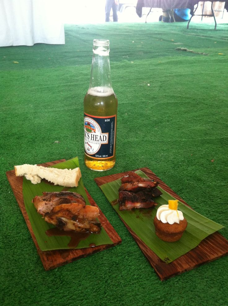 Jerk chicken, BBQ ribs and some sweets at the Island Street fair in Turks & Caicos