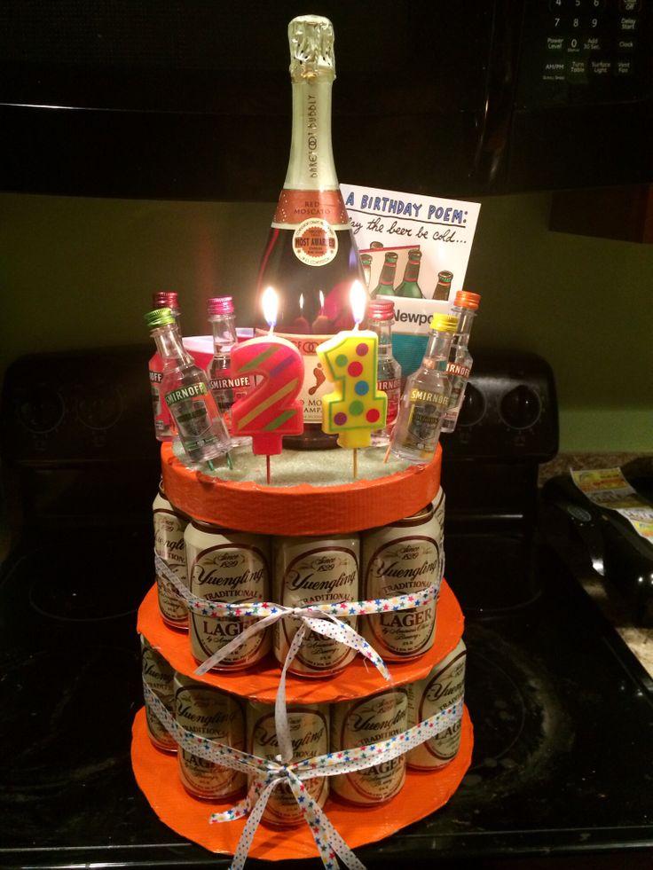 "My 21st ""birthday cake"" for him ) Craft Ideas"