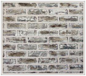 DIY Faux Brick Wall Tutorial Using Chalk Paint
