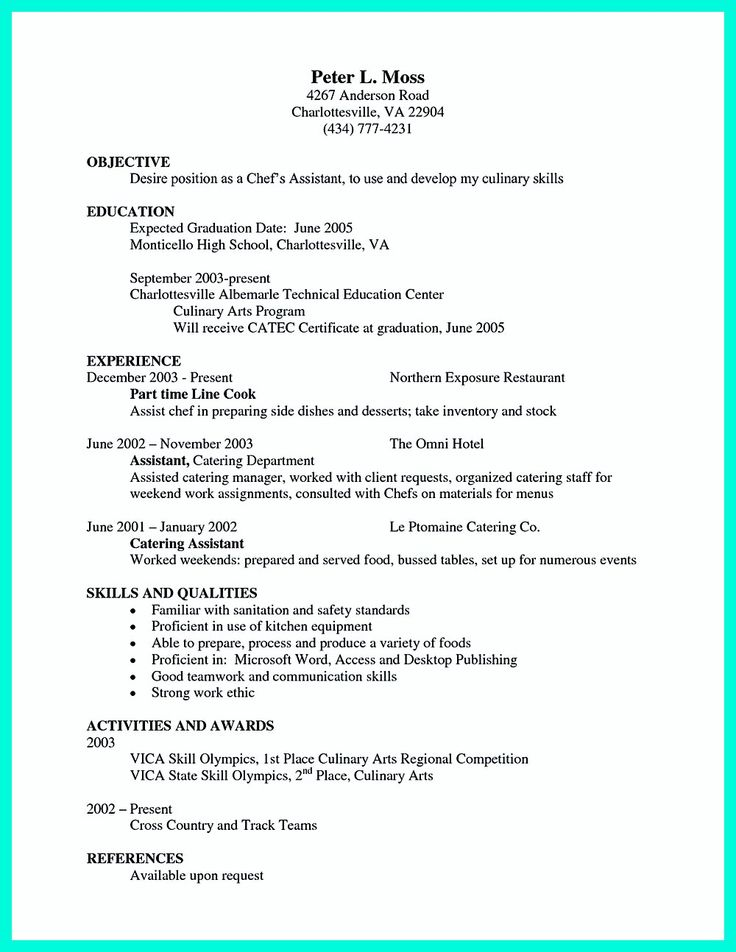The 25+ best Chef resume ideas on Pinterest Cv design - chef resume