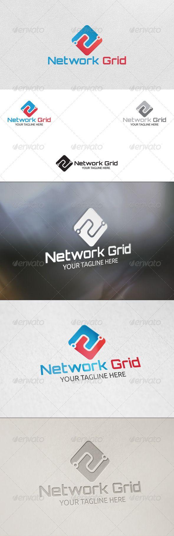 Logosmartz custom logo maker 5 0 review and download - Network Grid Logo Design Template Vector Logotype Download It Here Http