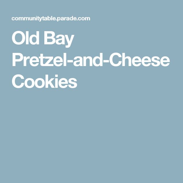 Old Bay Pretzel-and-Cheese Cookies