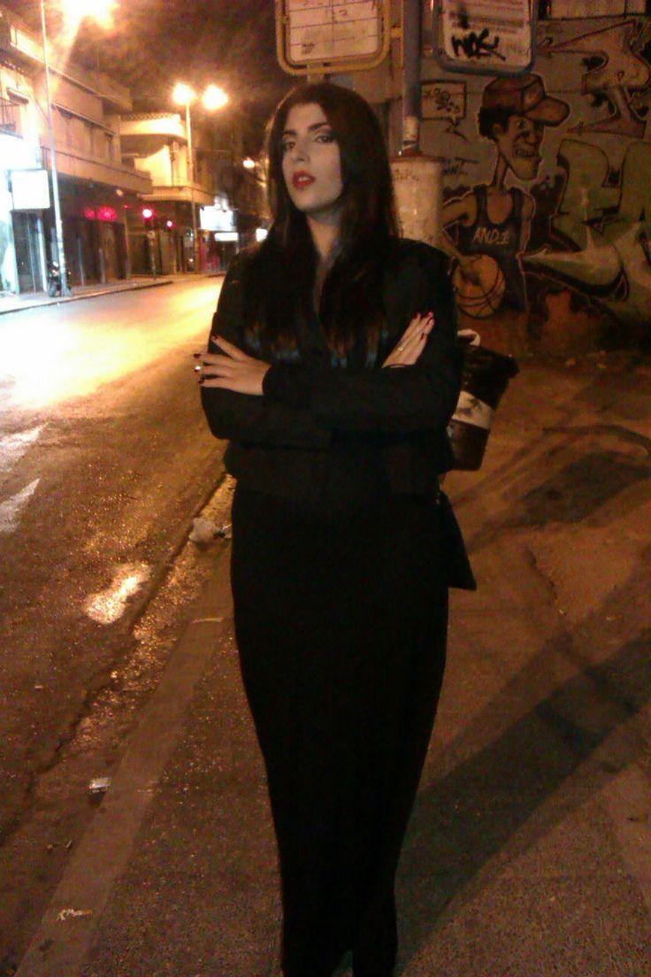 moritcia addams make up diy costume halloween makeup