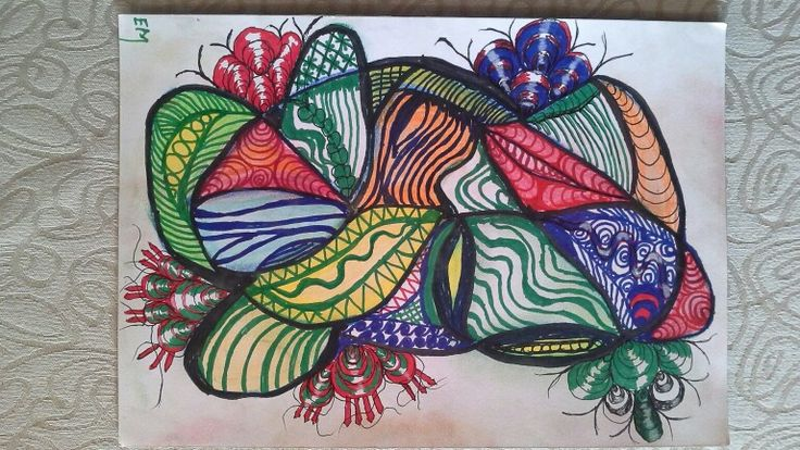 Doodle on A4 sketchbook. Orinal by ElsaMarthinsen