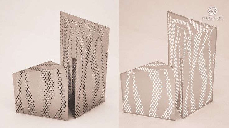 LIGHTS - ΦΩΤΙΣΤΙΚA Metalaxi Lights made of perforated aluminium with a unique pattern. Life is in the details. Metalaxi Innovative Architectural Products. www.metalaxi.com