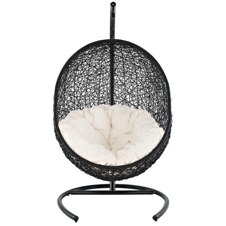 Encase Swing Lounge Chair in Espresso White  #themodernsource #modern #homedecor #outdoorfurniture #interiordesigning #details  www.modern-source