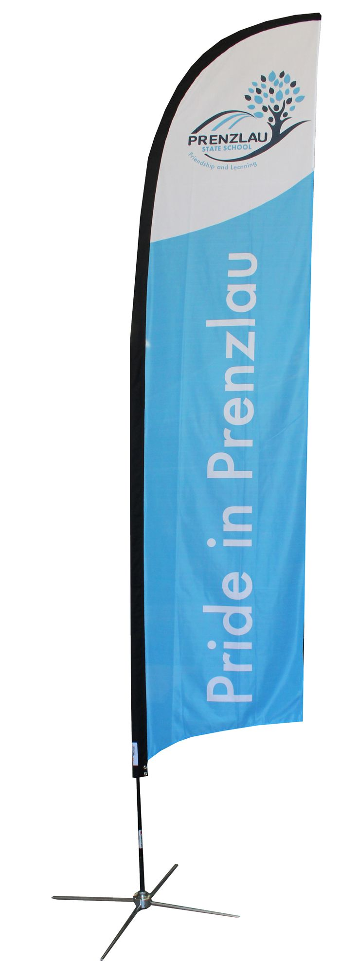 A magnified view of Prenzlau State School's awesome flag banner by Star Outdoor…