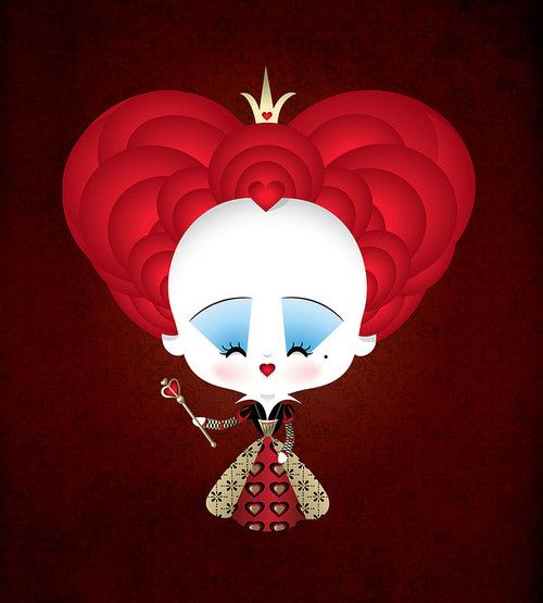 Reina de Corazones / Queen of hearts Alicia en el Pais de las Maravillas / Alice in Wonderland