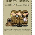 Studying decimals to the tenths and hundredths?  This is a decimal game with a detective theme.Students will draw a card and name the decimal f...