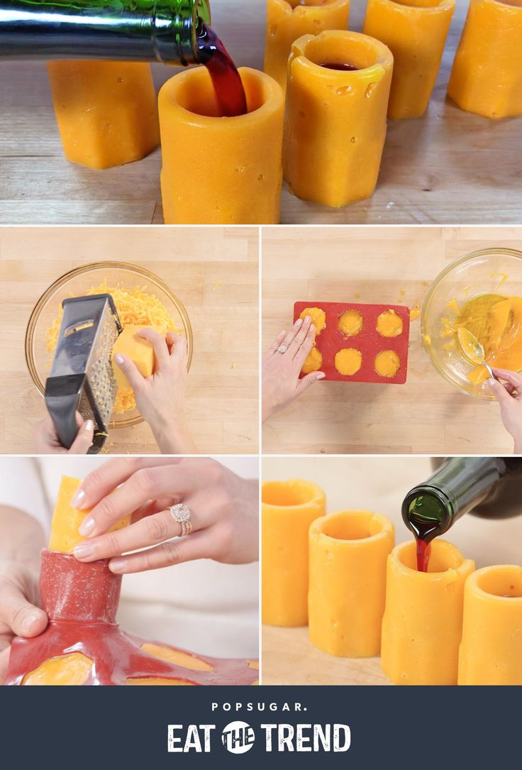 Edible Cheese Wine Shot Glasses