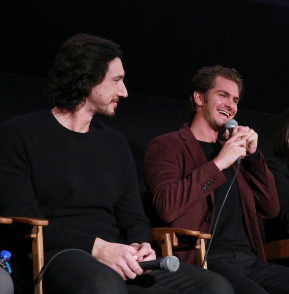 Adam Driver Photos Photos - Actors Adam Driver and Andrew Garfield at the American Cinematheque conversation with Director Martin Scorsese and Producer Irwin Winkler at the Egyptian Theatre on December 3, 2016 in Hollywood, California. - American Cinematheque Tribute to Martin Scorsese and Irwin Winkler