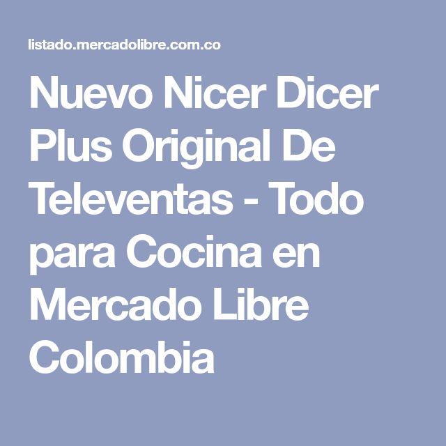 Nuevo Nicer Dicer Plus Original De Televentas - Todo para Cocina en Mercado Libre Colombia
