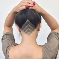 Image result for geometric shaved head