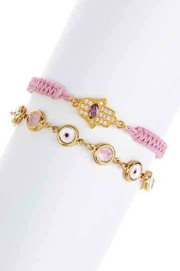 Evil Eye & Hamsa Macrame Bracelet Set