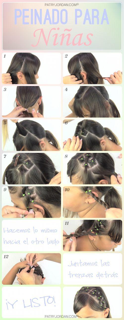 Peinado Fcil Para Nia Easy Hairstyle For Girl Peinado Para Nia